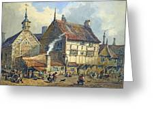 Old Houses And St Olaves Church Greeting Card