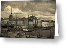 Old In Memory But Modern Copenhagen Greeting Card