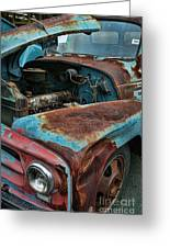 Old International Hood And Fender  Hdroc4224-13 Greeting Card