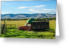 Old International Livestock Truck Greeting Card