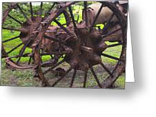 Old Iron Detail 2 Greeting Card by Barbara Snyder