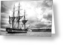 Old Ironsides Greeting Card by Peter Chilelli