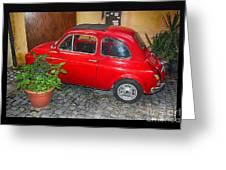 Old Italian Car Fiat 500  Greeting Card