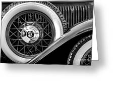 Old Jag In Black And White Greeting Card