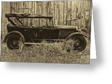 Old Jalopy Behind The Barn Greeting Card