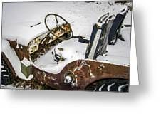 Old Jeep - New Snow Greeting Card