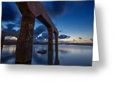 Old Jetty At Sunrise Greeting Card