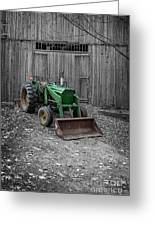Old Tractor By The Barn Etna New Hampshire Greeting Card