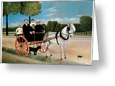 Old Junier's Cart Greeting Card by Henri Rousseau