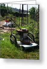 Vintage Lawn Mower Greeting Card