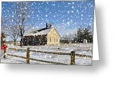 Old Kansas Schoolhouse Greeting Card
