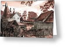 Old Kentish Oasts Greeting Card