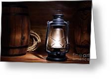 Old Kerosene Lantern Greeting Card by Olivier Le Queinec