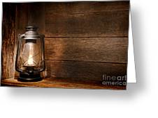 Old Kerosene Light Greeting Card