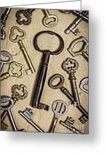 Old Keys Greeting Card