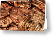 Old Leather Greeting Card by Bill Wakeley