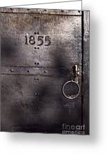 Old Lighthouse Door Greeting Card