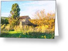 Old Little Stones House In Provence Greeting Card