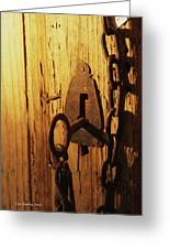 Old Lock And Key Greeting Card