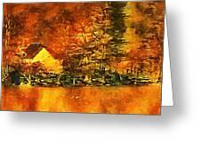 Old Log Cabin Greeting Card