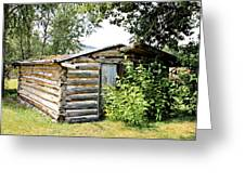 Old Log Homestead IIi Greeting Card