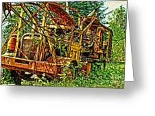 Old Logger-hdr Greeting Card
