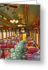 Old Lounge Car From Early Railroading Days Greeting Card