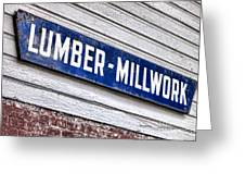 Old Lumberyard Sign Greeting Card