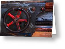 Old Machine Tool Greeting Card