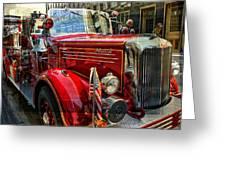 Old Mack Firetruck Greeting Card