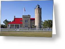 Old Mackinac Mi Lighthouse 19 Greeting Card