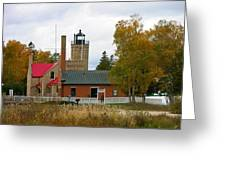 Old Mackinac Point Lighthouse In October Greeting Card