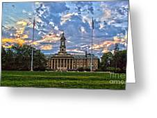 Old Main At Sunset Greeting Card