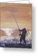 Old Man And The Sea Greeting Card