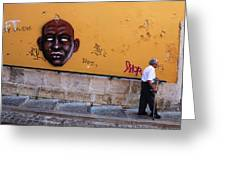Old Man Graffiti Greeting Card