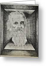 Old Man Head In Box Greeting Card by Glenn Calloway