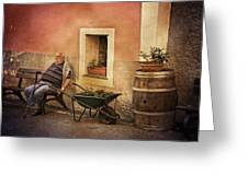 Old Man In Monterossa Italy Dsc02447 Greeting Card