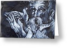 Old Man With Messianic Hands Greeting Card
