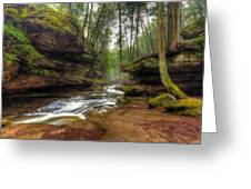 Old Man's Cave Greeting Card