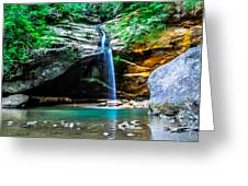 Old Mans Cave Lower Falls Greeting Card