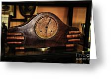 Old Mantelpiece Clock Greeting Card