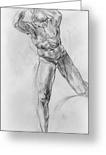 Old Masters Study Nude Man By Annibale Carracci Greeting Card