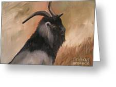 old Mcdonalds Goat Greeting Card by Sharon Burger