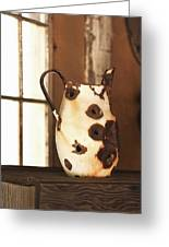 Old Metal Pitcher Greeting Card