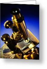 Old Microscope Greeting Card