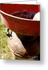 Old Milk Can Greeting Card