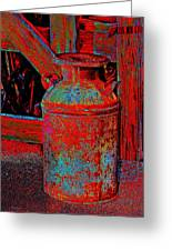 Old Milk Pail Pop Art Greeting Card