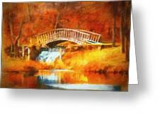 Old Mill Bridge Greeting Card