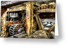 Old Mill Cogs Greeting Card