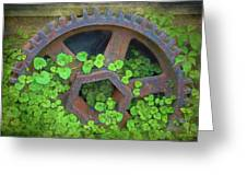 Old Mill Of Guiford Grinding Gear Greeting Card